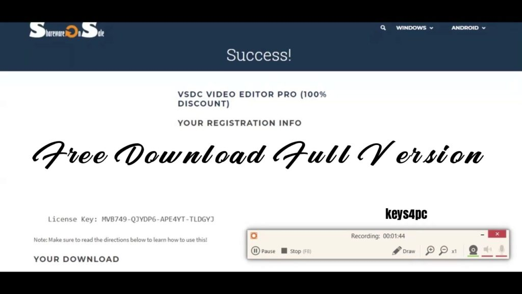 VSDC Video Editor 6.6.5.269 Crack | License Key Free | 2021