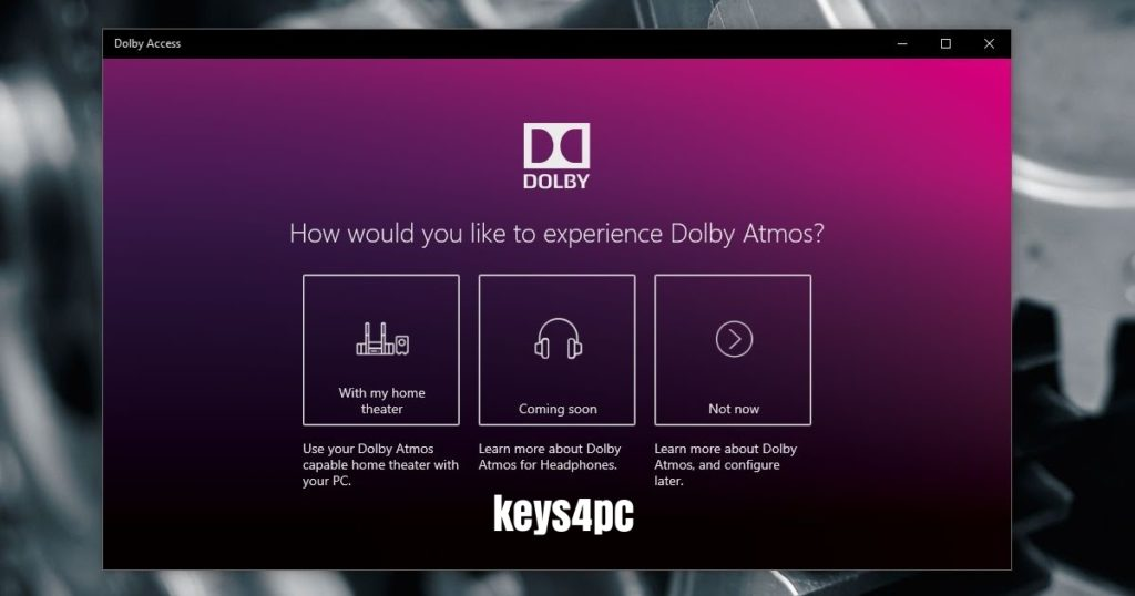 Dolby Access Premium 3.2.169.0 With Crack For Win or Mac Lifetime