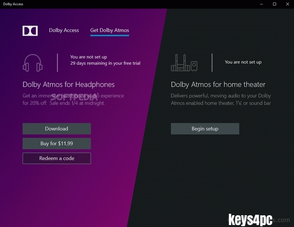 Dolby Access Premium 3.6.413.0 With Crack For Win or Mac Lifetime