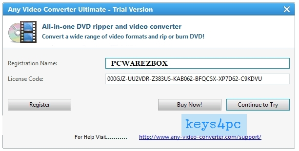 Any Video Converter Professional 7.1.1 Crack With License Code